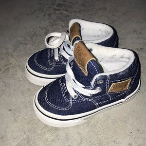 Toddler baby half cab Vans shoes 4.5